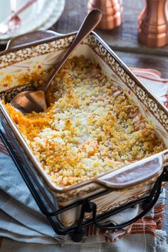 Butternut Squash Casserole with Parmesan Panko By OhMyVeggies.com Easy Holiday Recipes, Thanksgiving Recipes, Fall Recipes, Dinner Recipes, Thanksgiving Table, Vegetable Recipes, Vegetarian Recipes, Cooking Recipes, Healthy Recipes