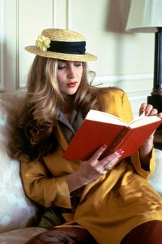 Jerry Hall... I wonder why photos of readers are almost always showing them reading at the middle of the book?...