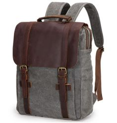 Cherry #backpack. Modell #benko.  #canvas und #Leder
