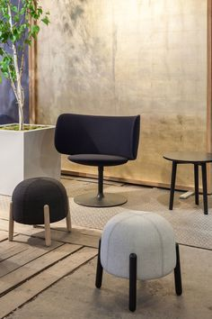 +Halle at Clerkenwell Design Week, London (2015) - Stella chair with Sally stools