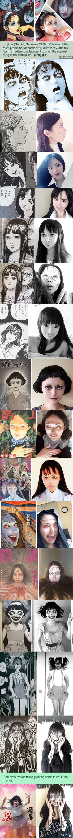 This girl is awesome! Talented girl's Junji Ito cosplay will haunt your dreams (By Mamakiteru)