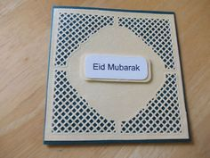 EID GREETINGS CARD, ONE CARD WITH ONE ENVELOPE, GREEN & GOLDEN COLOUR
