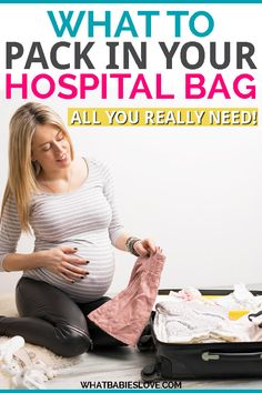 What to pack in your hospital bag for labor and delivery (for mom, baby AND dad). Some super helpful tips here! And some items I wouldn't have though of! Delivery Hospital Bag, Labor Hospital Bag, Packing Hospital Bag, Hospital Bag Checklist, Gentle Parenting, Kids And Parenting, Parenting Hacks, Pregnancy Care, Pregnancy Workout