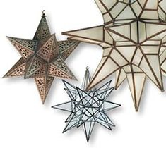 Mexican Star Lights in rustic tin, natural tin and glass, so inexpensive!