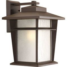 """Progress Lighting P6042-WB Loyal 1 Light 16"""" Tall Outdoor Wall Sconce with Etche Antique Bronze Outdoor Lighting Wall Sconces Outdoor Wall Sconces"""