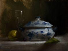 Neil-Carroll-Original-Oil-Painting-Realism-Impressionism-Still-Life-Tureen-Bowl