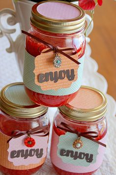 Decorative Tags, and I like the idea of filling mason jars with jam and giving as a gift