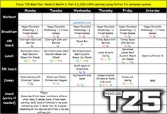 Meal Plan, Portion Fix, daily calories Shaun T Workouts, At Home Workouts, Weight Loss Meal Plan, Weight Gain, T25 Meal Plan, Saturday Workout, Family Meal Planning, Thing 1, Shakeology