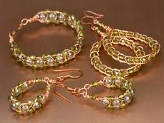 Copper and Clover Bracelet and Earrings Instructions
