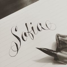 #sofia #calligraphy #calligrafia #caligrafia #ink #typegang #share