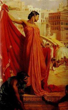 Valentine Cameron Prinsep - Bathing in the Ganges (detail)