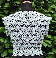 Fabulous Crochet a Little Black Crochet Dress Ideas. Georgeous Crochet a Little Black Crochet Dress Ideas. Crochet Bolero Pattern, Gilet Crochet, Crochet Jacket, Crochet Blouse, Crochet Stitches, Crochet Hooks, Crochet Top, Crochet Patterns, Easy Crochet