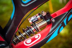 Stendec Proto Fork and Arma Shock - 2017 Lourdes World Cup Pit Bits - Mountain Biking Pictures - Vital MTB