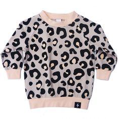 Kapow Kids Peachy Leopard Sweater - A Little Bit of Cheek Leopard Sweater, Spandex Fabric, Jumper, Girl Outfits, Sweatshirts, Blouse, Sweaters, Baby Style, Cotton