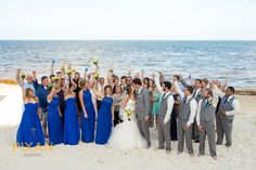 What a great looking crowd! This destination wedding has me jealous!