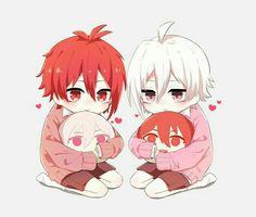 Anime Chibi, Anime Art, Kuroko, Some Pictures, Fantasy Art, Twins, Idol, Kawaii, Animation