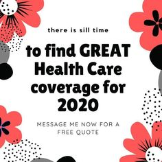 I can help you, your family and small business find a great health care plan NOW... message me for a FREE quote!