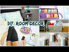 DIY Room Decor for Cheap! Tumblr + Pinterest Inspired - YouTube