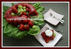 Rhubarb Jello Salad Recipe with Strawberries and Mandarin Oranges - make in any mold or dish! SOOO YUMMY!