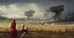 1920 - before the storm, Jakub Rozalski on ArtStation at https://www.artstation.com/artwork/1920-before-the-storm
