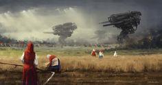 1920 - before the storm, Jakub Rozalski on ArtStation at https://www.artstation.com/artwork/1920-before-the-storm