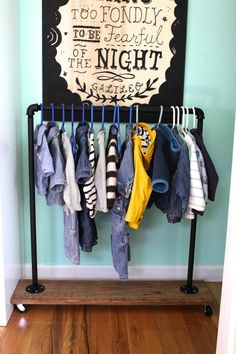 """DIY Mini Garment Rack"""