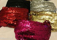 3mm Sequinned Lycra Stretch Trimming for clothing
