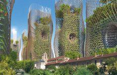 """2050 Paris Smart City by Vincent Callebaut Architectures. Paris Smart City"""" is a research and development project for Paris Architecture Durable, Futuristic Architecture, Sustainable Architecture, Amazing Architecture, Landscape Architecture, Architecture Design, Parametric Architecture, Building Architecture, Futuristisches Design"""