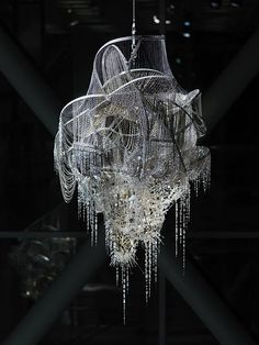 chandeliers by lee bul
