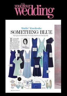 You & Your Wedding September 2016 featuring our light blue ballet flats as part of a bridesmaid trend piece.