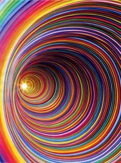 #rainbow #swirl #tunnel