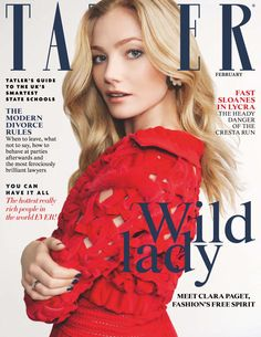 Clara Paget by Mari Sara for Tatler UK February 2016 cover - Fendi Spring 2016