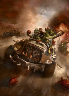 Warhammer 40k Art, Warhammer Models, Orks 40k, Cool Monsters, The Grim, Fantasy Characters, Oeuvre D'art, My Images, Les Oeuvres
