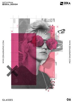 Graphic Design Project called Glasses with Digital Collage elements and Minimal style, I used creative Typography elements and geometric shapes. Poster Design Layout, Poster Design Inspiration, Graphic Design Posters, Design Layouts, Poster Designs, Brochure Design, Creative Typography, Typography Design, Creative Art
