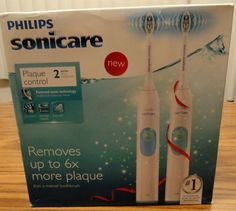 NEW Phillips Sonicare HX 6212/17 Electric Toothbrush 2 Handles 2 Brush Heads NEW #Sonicare