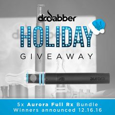 @DrDabber the best low profile, low heat portable vaporizers for dabbing. drdabber.com HOLIDAY GIVEAWAY