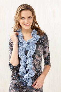 Free crochet pattern for Ruffle Scarf ✿⊱╮Teresa Restegui http://www.pinterest.com/teretegui/✿⊱╮