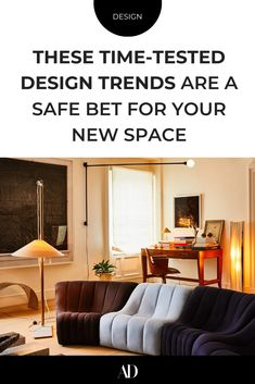 Not sure where to start in your decor? These 23 designs are still trending for a reason. #lookbook #furniture #furnishings #lighting #sofa #desk #lamps #wallpaper #wallcoverings #wall #gallerywalls #art #pattern #textiles #upholstery