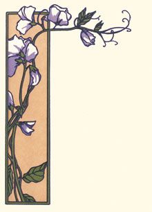 Sweet Peas, letter press note cards