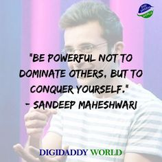 Sandeep Maheshwari Motivational Quotes and Wiki - DigiDaddy World Positive Attitude Quotes, Motivational Thoughts, Best Motivational Quotes, Best Quotes, Inspirational Quotes, Good Life Quotes, Success Quotes, True Quotes, Quotes To Live By