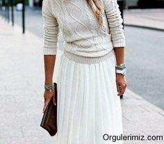 Modanın cazibesinde kazak örneklerine devam ediyoruz... Yine 3 farklı model sizlerle...