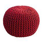 Puf the crochet! ya tienes vestidos de crochet en tu armario? Pues viste de crochet el salón con este puf tan mono!