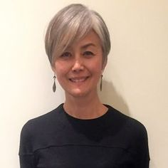 Hairstyles For Seniors, Pixie Hairstyles, Short Hairstyles For Women, Cool Hairstyles, Asian Short Hair, Short Hair Cuts, Short Hair Styles, Grey Hair Inspiration, Gray Hair Growing Out