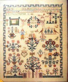 """Permin of Copenhagen sampler pattern 153050 """"Antique Sampler"""" Celle 1808"""