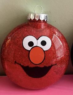 Custom Christmas ornaments inspired by Sesame Street characters Elmo Christmas, Sesame Street Christmas, Christmas Tree Bulbs, Christmas Trees For Kids, Baby Ornaments, Personalized Christmas Ornaments, Diy Christmas Ornaments, Christmas Projects, Holiday Crafts