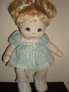 My Child baby dolls- 1985, omg I had one of those, I remember the face!!! It had a cloth face... my mom had to wash it all the time
