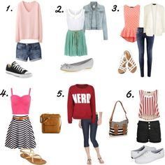 Cute and Adorable outfits! :) <3 Teen fashions. What's your favorite? Comment.