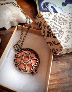 Antiqued Aromatherapy Necklace  Scent by dreamsofancientsun