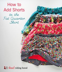 How to Add Shorts to the Fat Quarter Skirt {featuring Birds & the Bees Fabric by Tamara Kate}