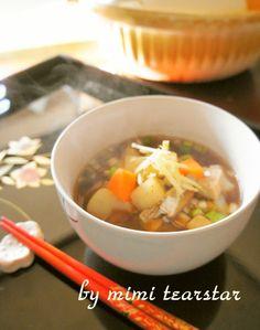 Slightly+Spicy+Rikyu-jiru,+A+Shojin+Ryori+Soup+With+Red+Miso